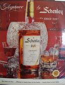 Schenley Whiskey Elegance 1957 Ad