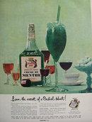 Canada Dry Crème De Menthe 1957 Ad