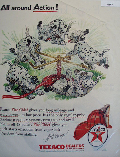 Texaco Products 1956 Ad