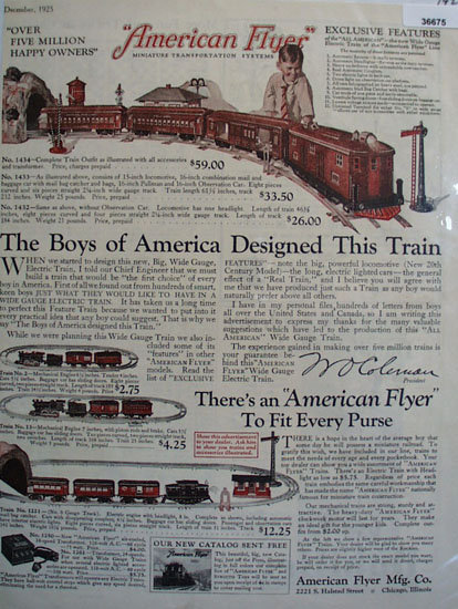 American Flyer Mfg. Co. 1925 Ad