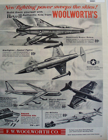 F.W. Woolworth Co. Model Airplanes 1957 Ad