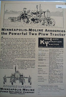 Minneapolis Moline Power Implement Co. 1930 Ad