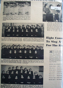 Choruses to sing at State Fair 1955 Pictures and Article