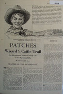 Patches Wizard of the Cattle Trail 1928 Short Story