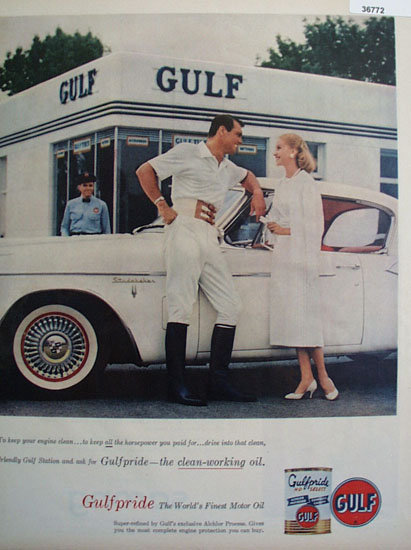 Gulfpride Worlds Finest Motor Oil 1957 Ad.