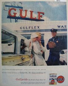 Gulfpride Motor Oil 1957 Ad