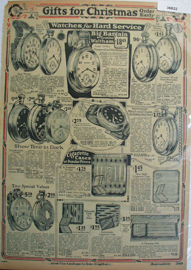 Montgomery Ward Watches for Hard Service 1925 Ad