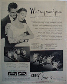 Gruen Curves Watch 1950 Ad