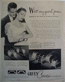 Gruen Curves Watch 1950 Ad