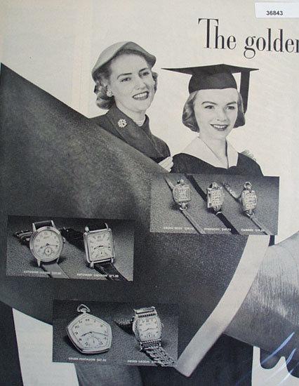 Gruen Precision Watch 1951 Ad