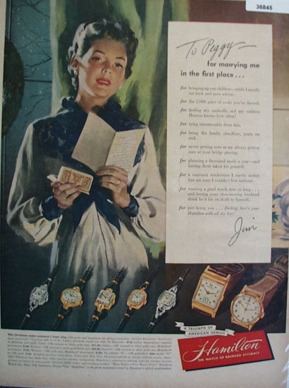 Hamilton Watch 1948 Ad