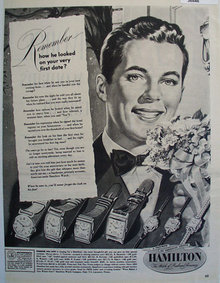 Hamilton Watch 1949 Ad