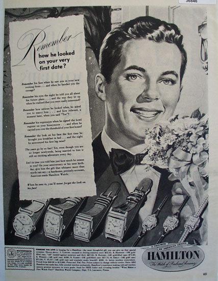 Hamilton Watch 1949 Ad