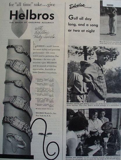 Helbros Watch Billy Eckstine 1951 Ad