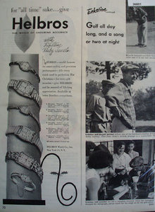 Helbros Watch Billy Eckstine 1951 Ad