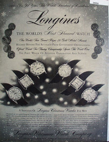 Longines Wittnauer Watch Co. 1957 Ad