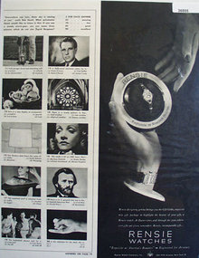 Rensie Watches 1947 Ad