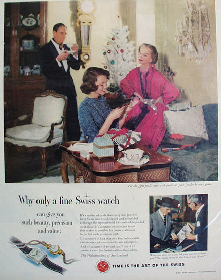Swiss Federation of Watch Manufacturers 1951 ad