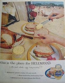 Hellmanns Real Mayonnaise 1957 Ad