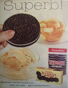 Hydrox Cookies by Sunshine Biscuits 1959 ad