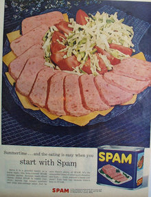 Hormel And Co. Spam Meat 1956 Ad