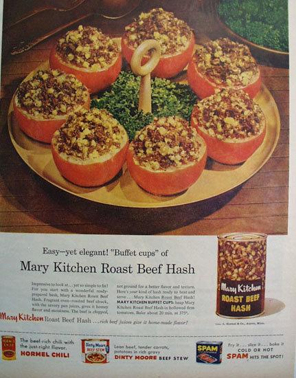 Mary Kitchen Roast beef Hash 1957 Ad