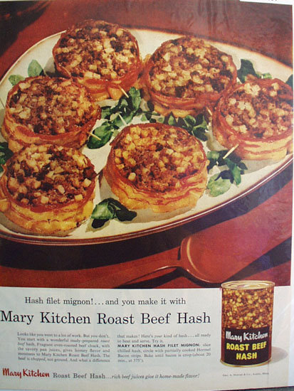 Mary Kitchen Roast Beef Hash 1957 Ad
