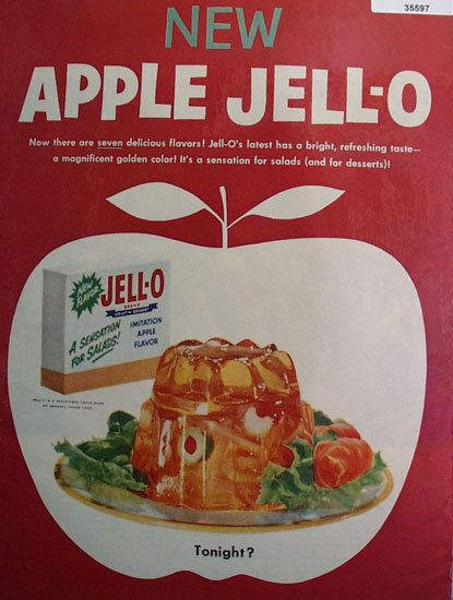 New Apple Jell-O 1955 Ad