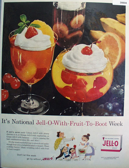 Jell-O Fruit To Boot 1959 Ad