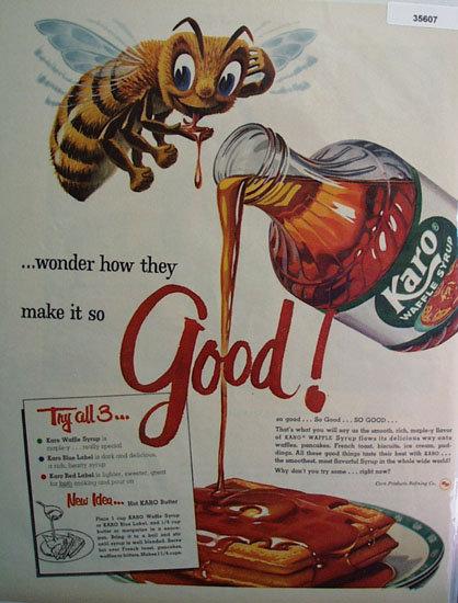 Karo Waffle Syrup 1958 Ad
