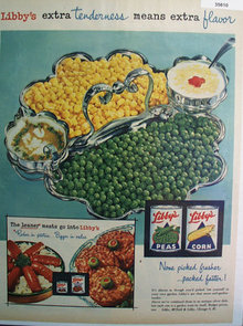 Libby McNeill And Libby Vegetables 1955 Ad