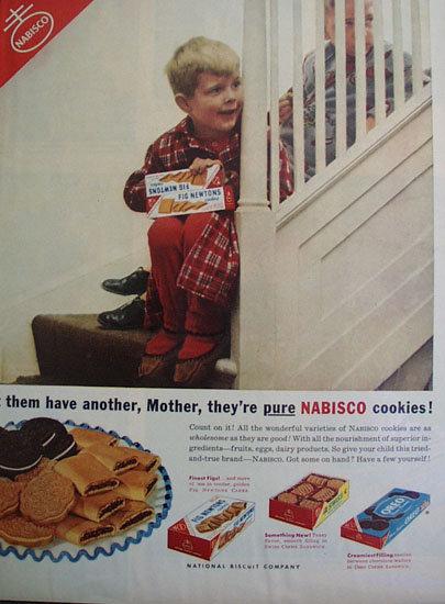 Nabisco Cookies 1953 Ad