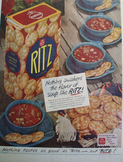 Nabisco Ritz Crackers 1947 Ad