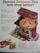 Swanson Frozen Pies 1956 Ad