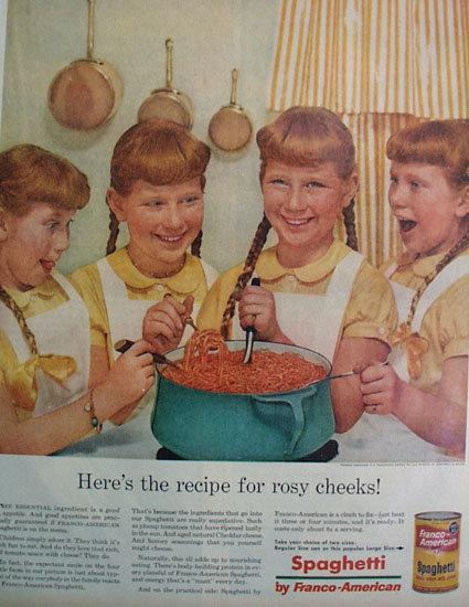 Franco American Spaghetti 1956 Ad