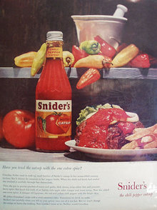 Sniders Chili Pepper Catsup 1959 Ad