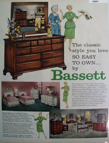 Bassett Furniture Industries 1959 Ad