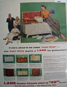 Lane Cedar Chest Graduation Gift 1956 Ad