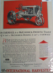 McCormick Deering Farmall Tractor 1930 Ad