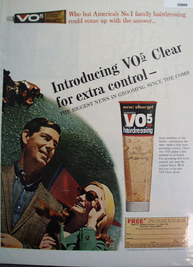Alberto VO5 Hairdressing 1966 Ad