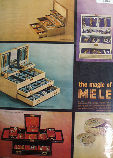 Sarah Coventry Magic of Mele Jewel Cases 1965 Ad