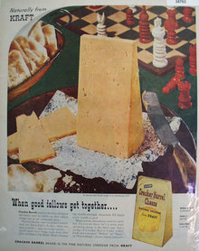 Naturally from Kraft Cracker Barrel Cheese 1957 Ad