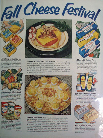 Kraft Fall Cheese Festival 1952 Ad