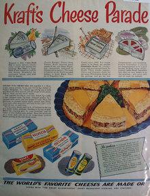 Krafts Cheese Lenten Menus 1952 Ad