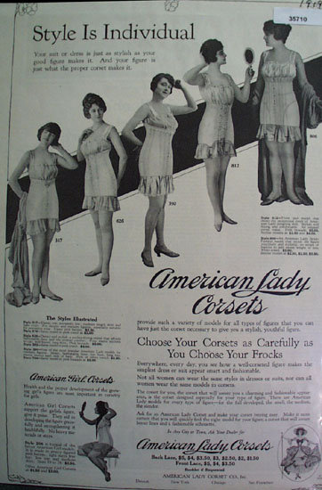 American Lady Corsets 1919 Ad