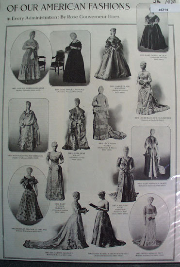 State Gowns Worn by First Lady Of The Land 1920 Article.
