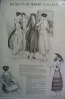 Dress Designs by Harry Collins 1920 Ad