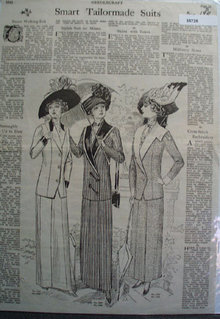 Needlecraft Suits Patterns 1911 Ad