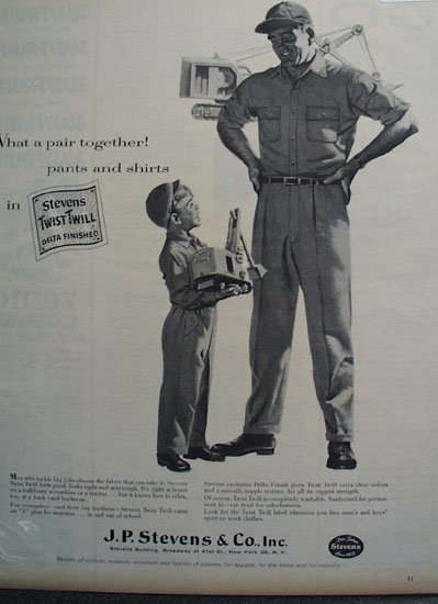 J.P. Stevens And Co. Apparels 1956 Ad
