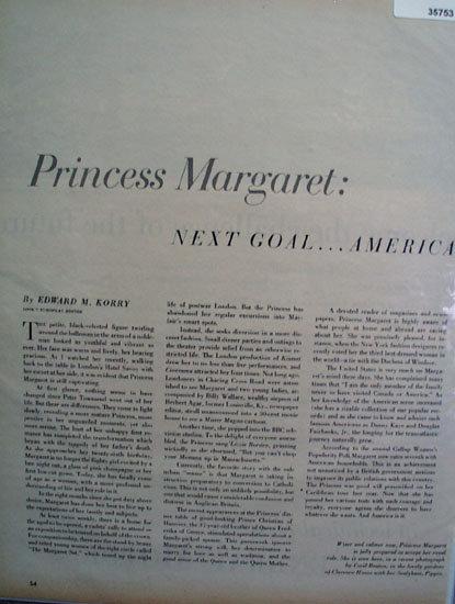Princess Margaret 1956 Article